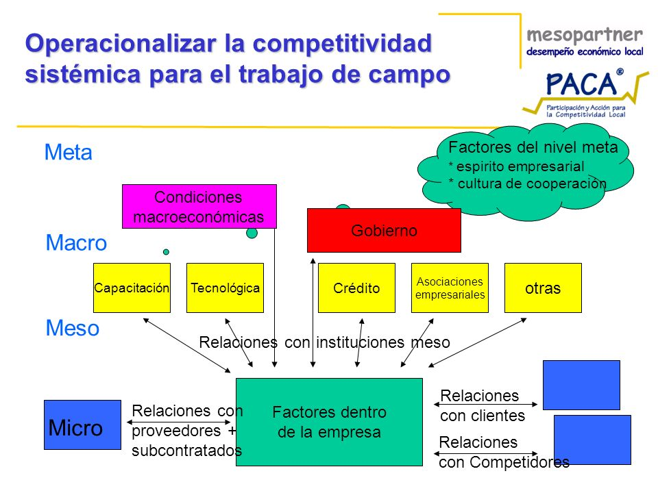 Operacionalizar la competitividad sistémica para el trabajo de campo