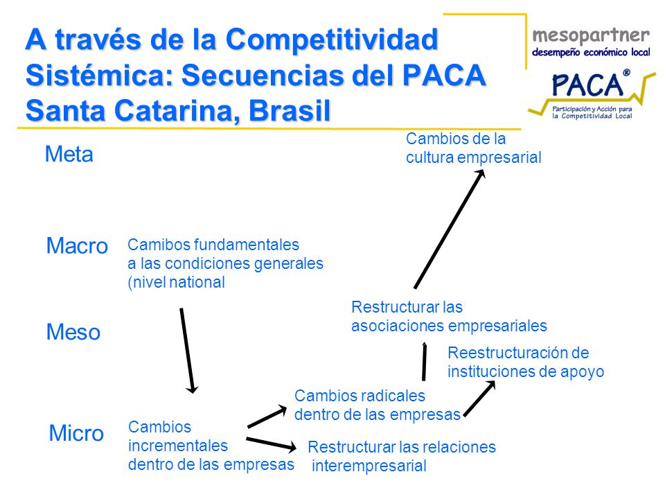 A través de la Competitividad Sistémica: Secuencias del PACA Santa Catarina, Brasil