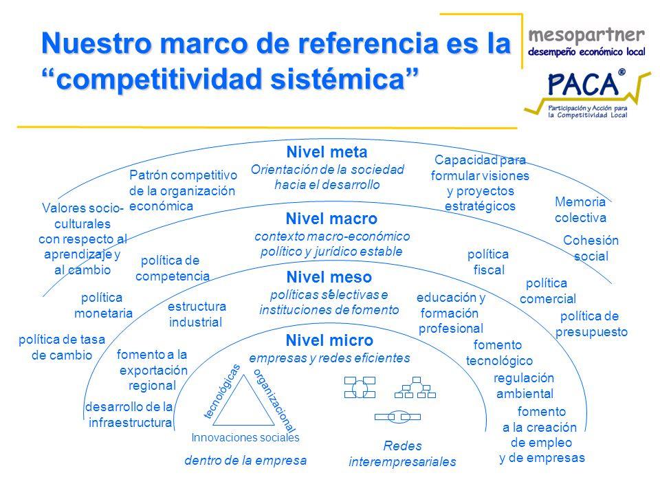 Nuestro marco de referencia es la competitividad sistémica