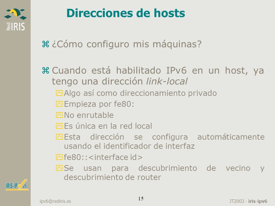 Direcciones de hosts ¿Cómo configuro mis máquinas