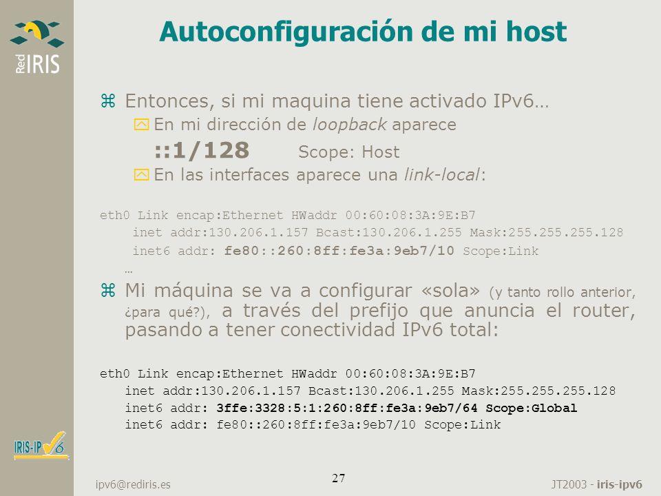Autoconfiguración de mi host