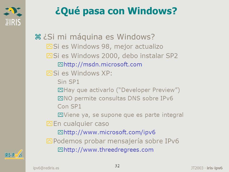 ¿Qué pasa con Windows ¿Si mi máquina es Windows