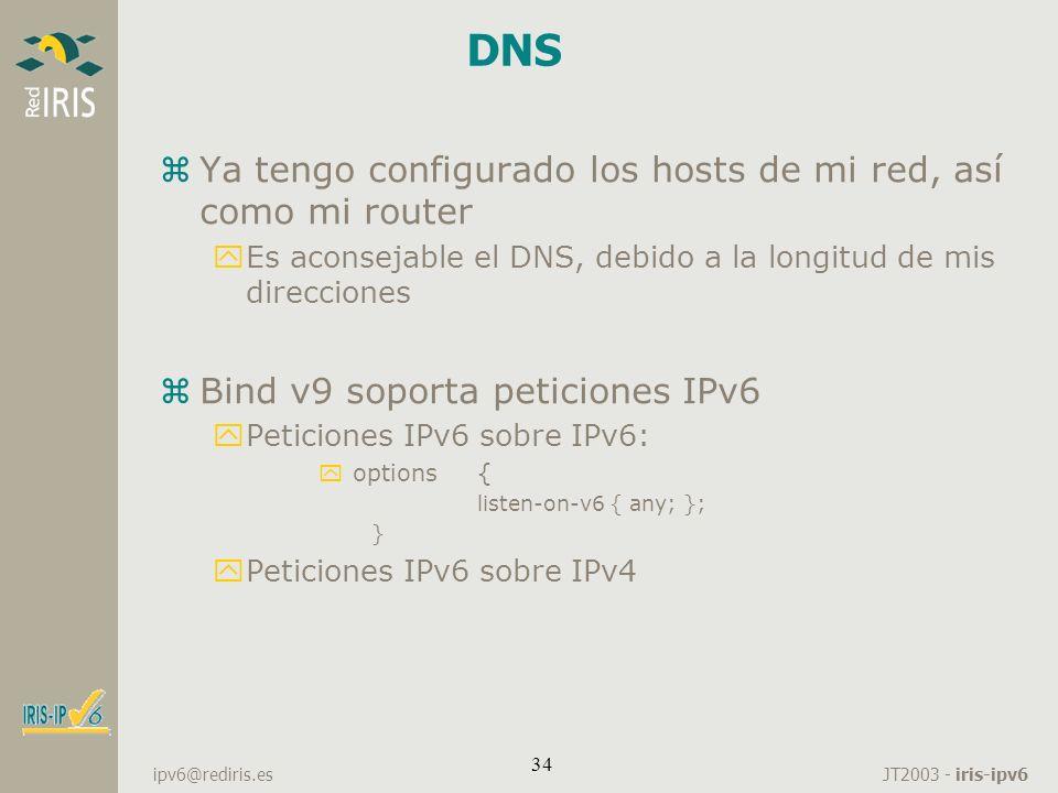 DNS Ya tengo configurado los hosts de mi red, así como mi router