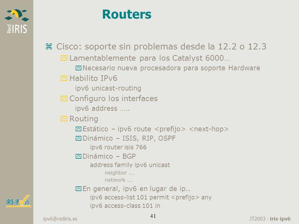 Routers Cisco: soporte sin problemas desde la 12.2 o 12.3