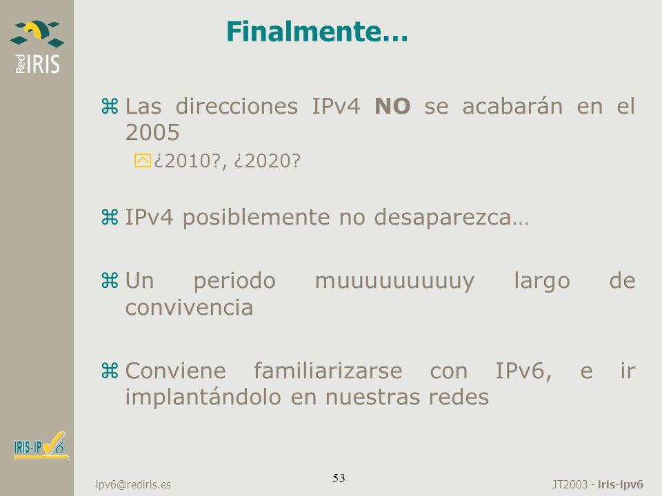 Finalmente… Las direcciones IPv4 NO se acabarán en el 2005