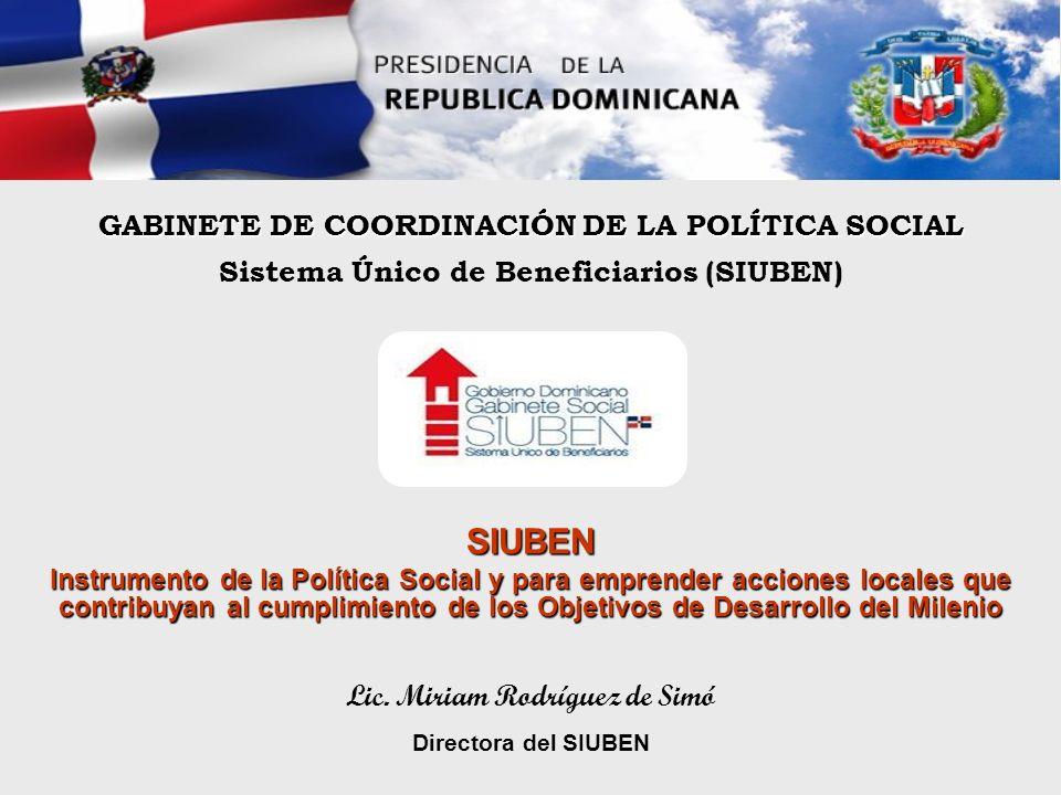 SIUBEN GABINETE DE COORDINACIÓN DE LA POLÍTICA SOCIAL