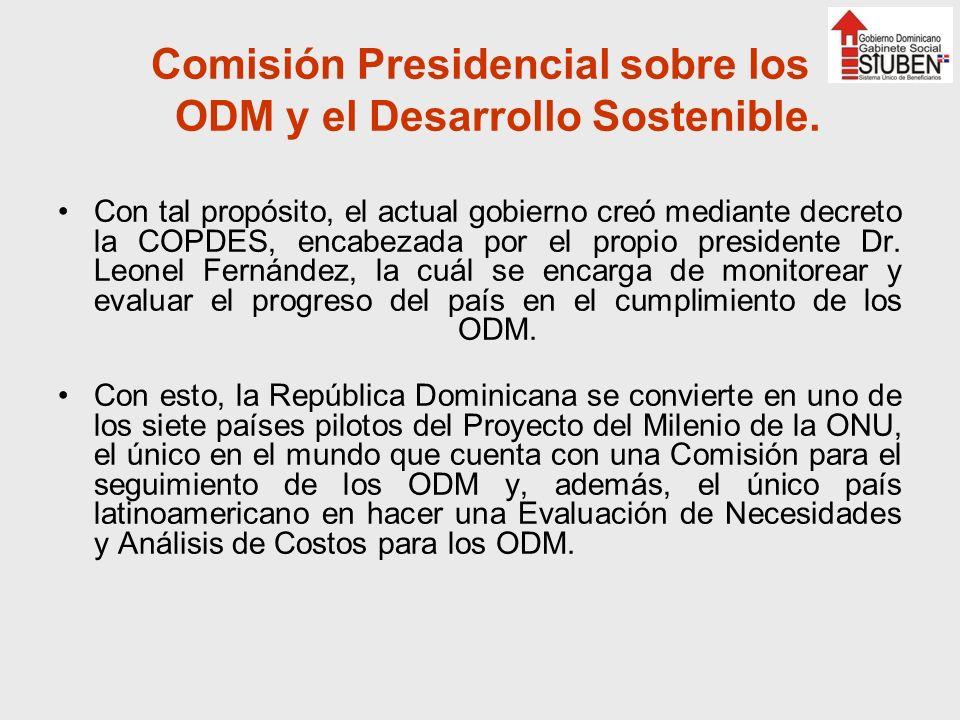Comisión Presidencial sobre los ODM y el Desarrollo Sostenible.