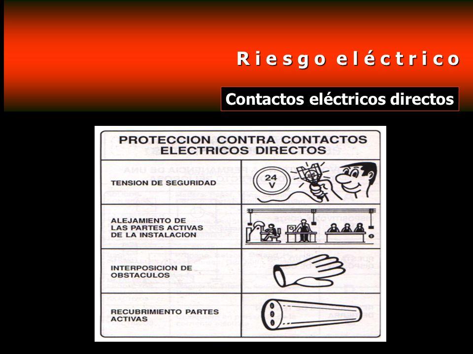 R i e s g o e l é c t r i c o Contactos eléctricos directos