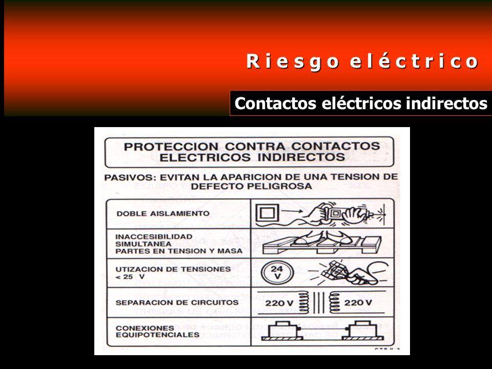 R i e s g o e l é c t r i c o Contactos eléctricos indirectos