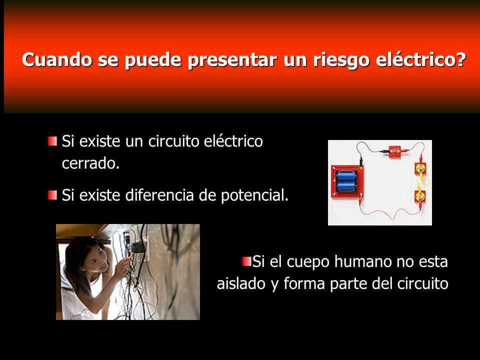Cuando se puede presentar un riesgo eléctrico