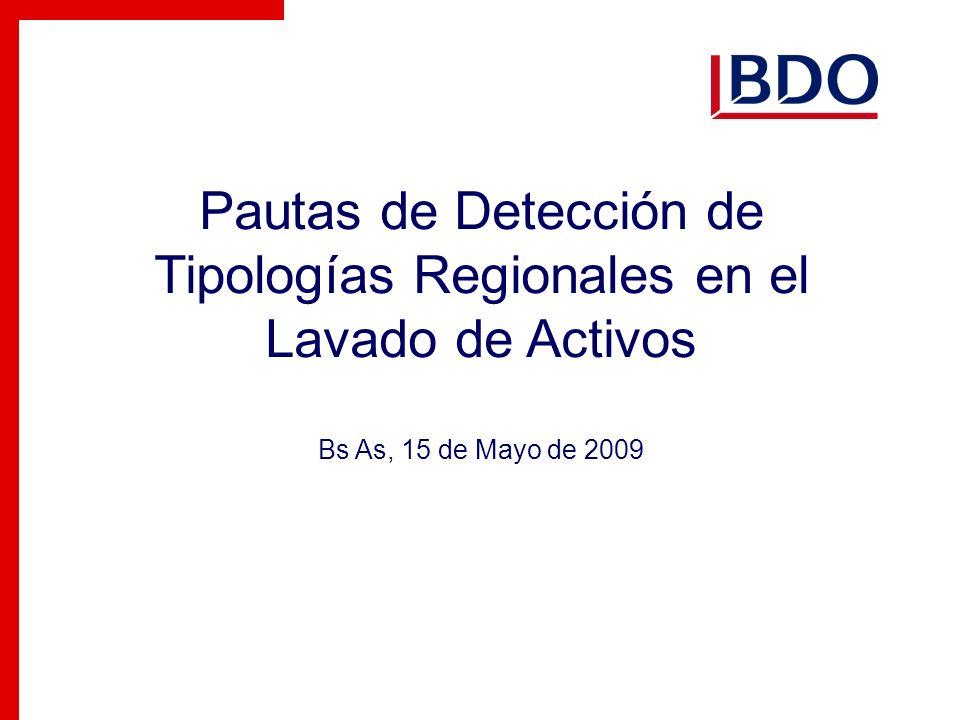 Pautas de Detección de Tipologías Regionales en el Lavado de Activos