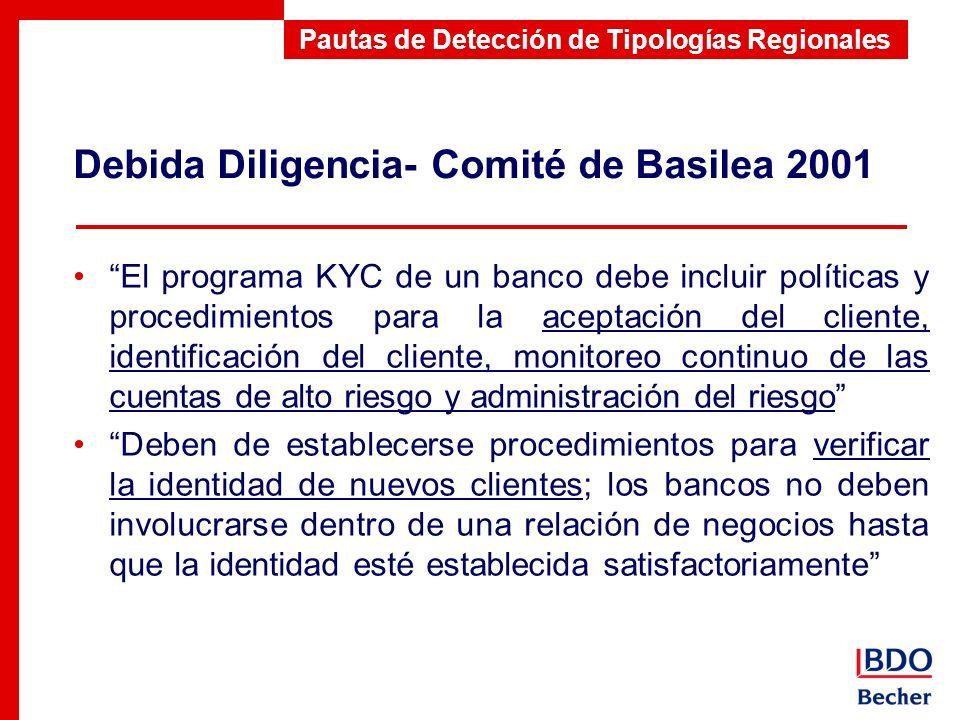 Debida Diligencia- Comité de Basilea 2001