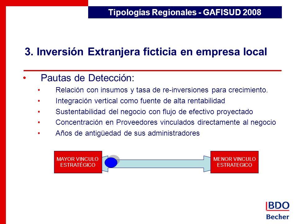 3. Inversión Extranjera ficticia en empresa local
