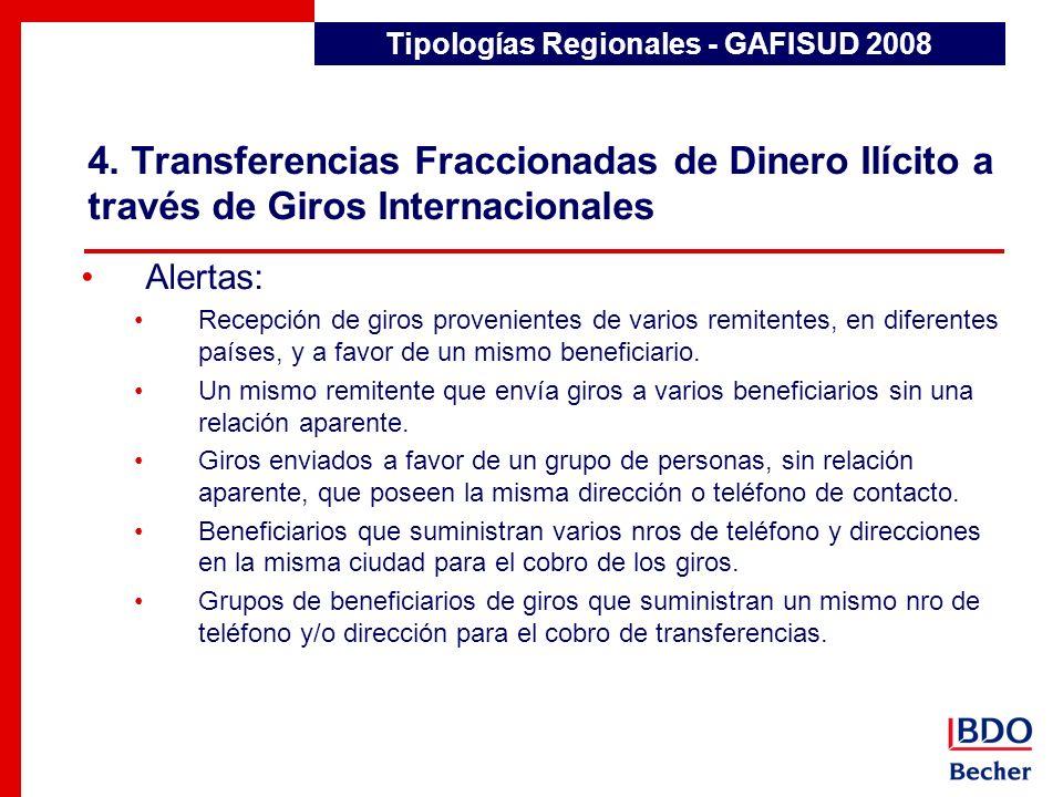 Tipologías Regionales - GAFISUD 2008
