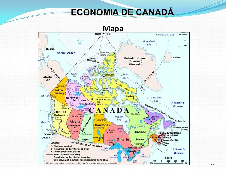 ECONOMIA DE CANADÁ Mapa