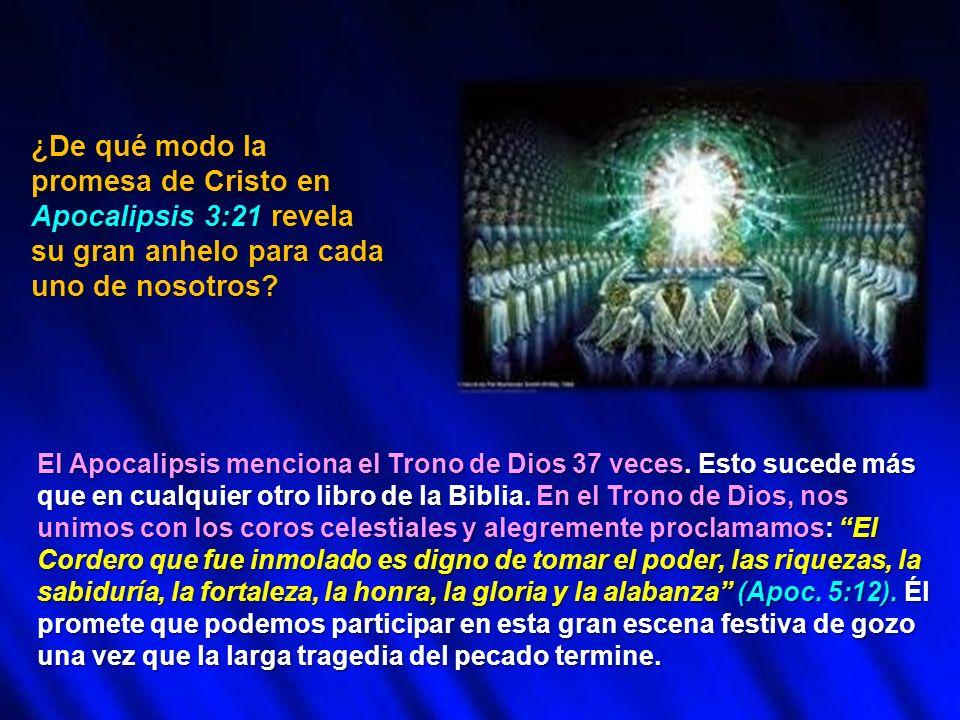 ¿De qué modo la promesa de Cristo en Apocalipsis 3:21 revela su gran anhelo para cada uno de nosotros