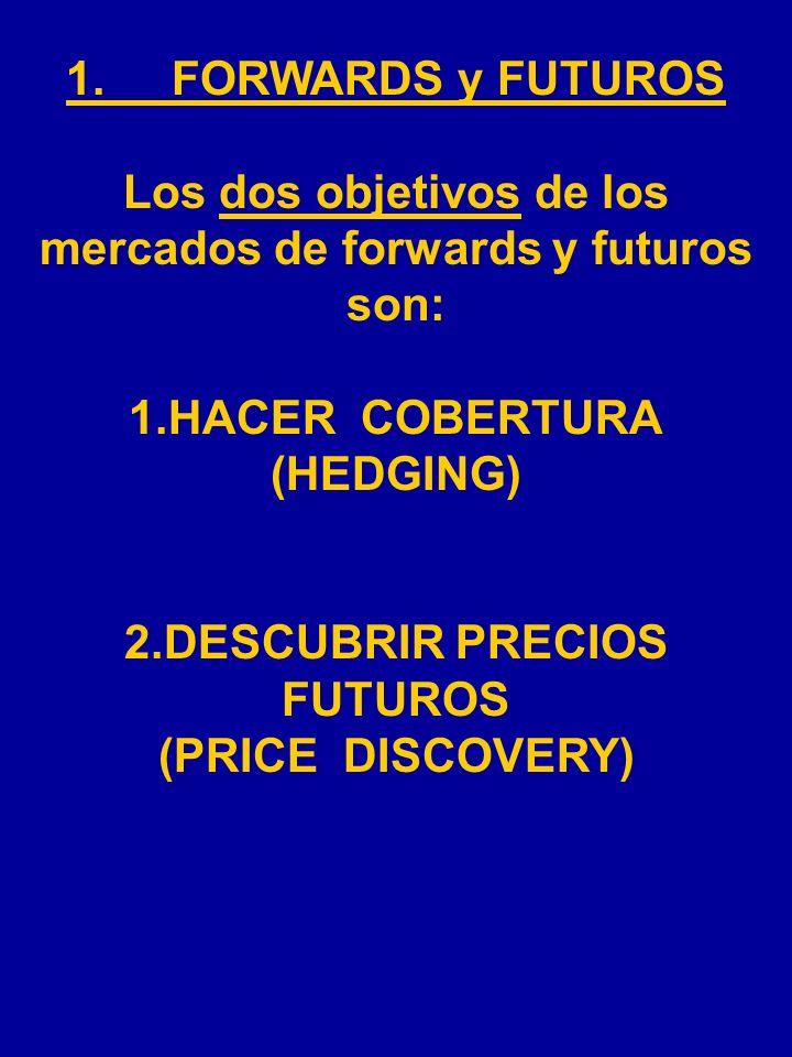 Los dos objetivos de los mercados de forwards y futuros son: