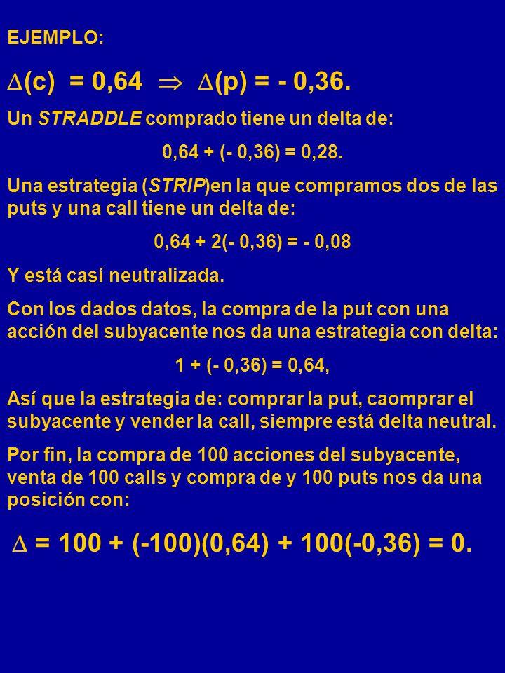 (c) = 0,64  (p) = - 0,36. EJEMPLO: