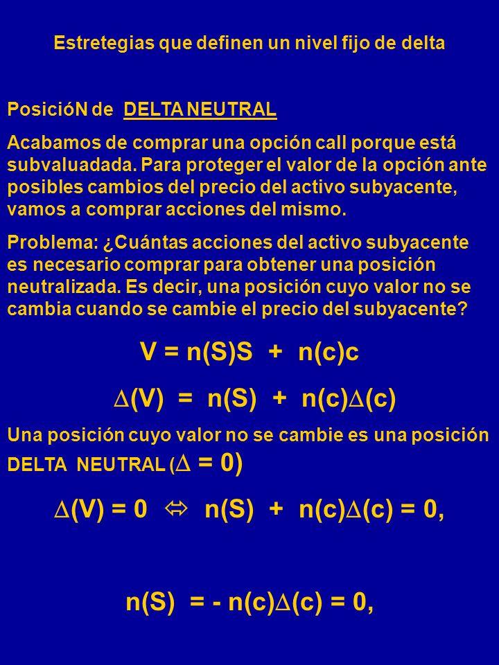 (V) = 0  n(S) + n(c)(c) = 0,