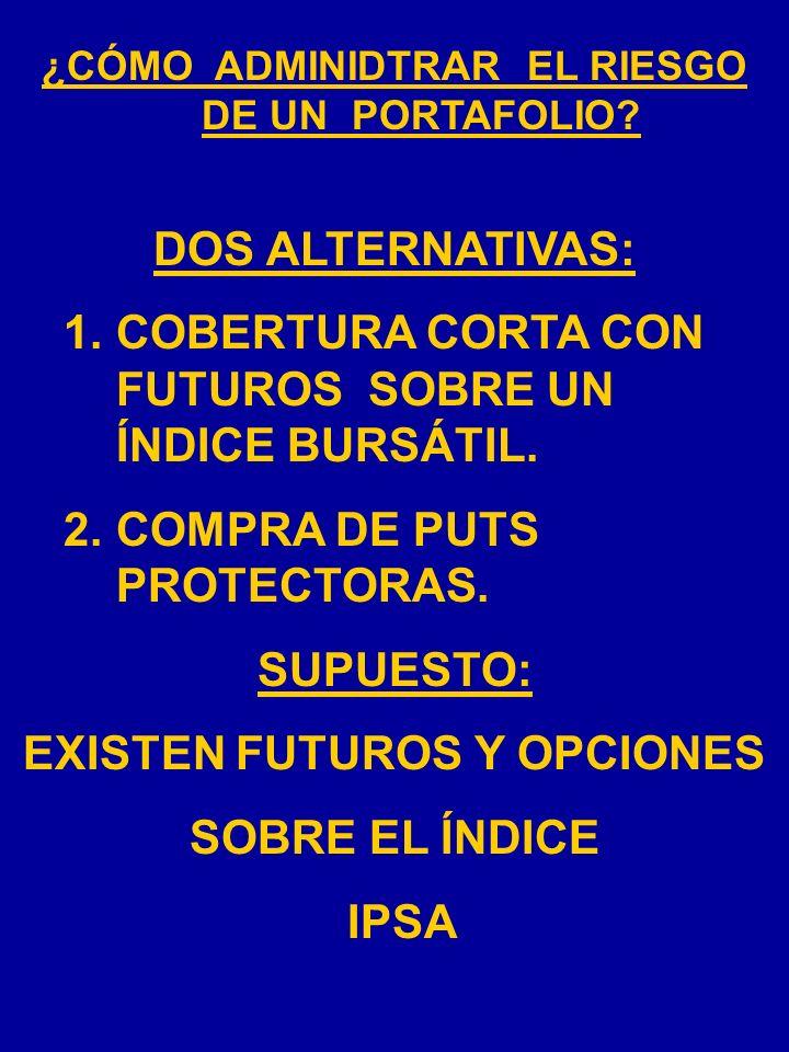 1. COBERTURA CORTA CON FUTUROS SOBRE UN ÍNDICE BURSÁTIL.