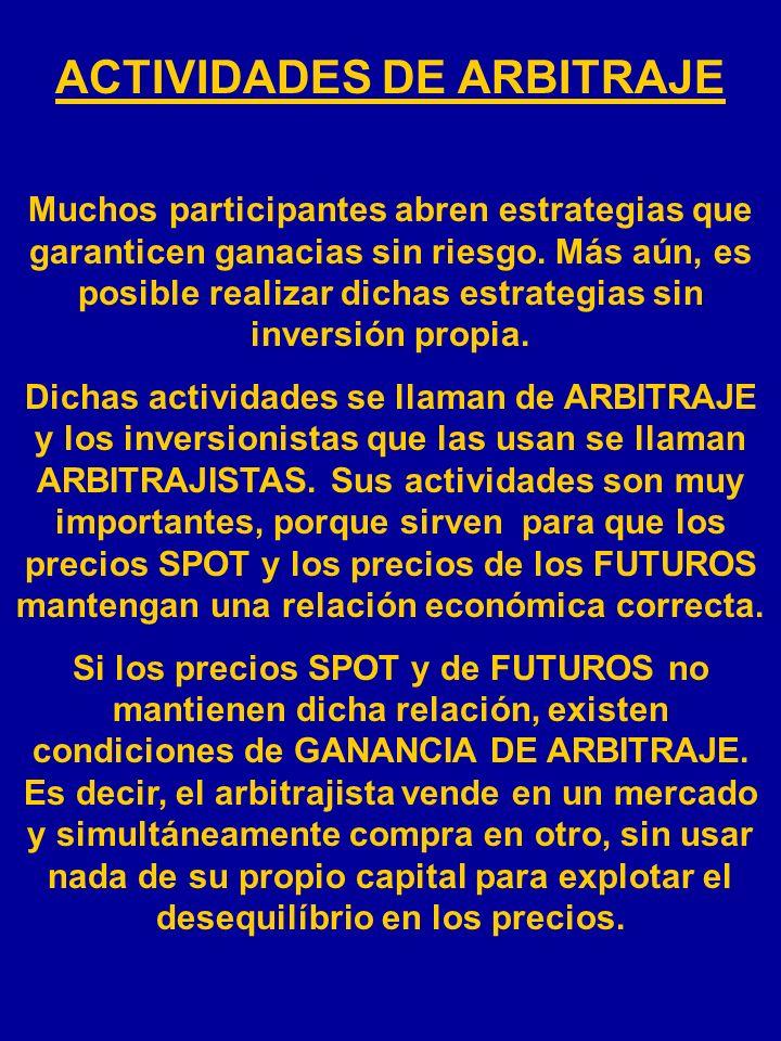 ACTIVIDADES DE ARBITRAJE
