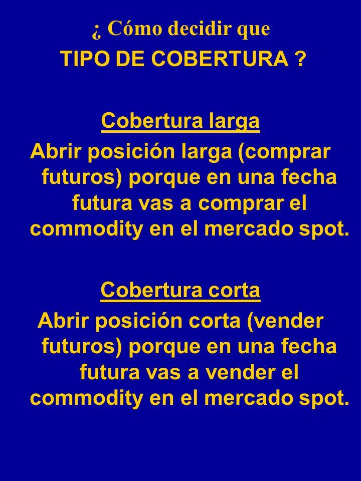 ¿ Cómo decidir que TIPO DE COBERTURA Cobertura larga.