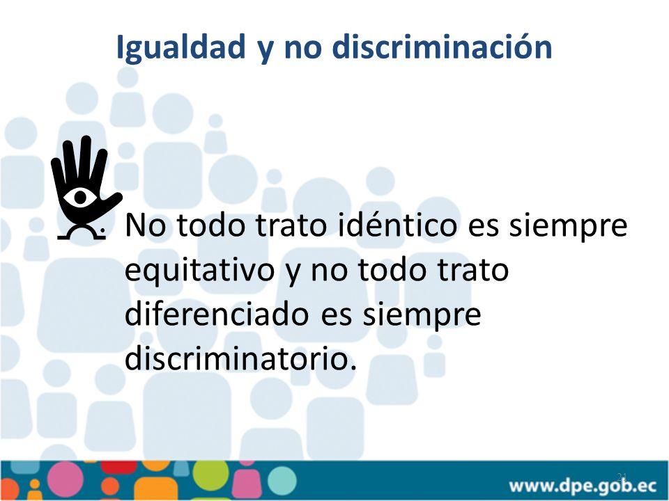 Igualdad y no discriminación
