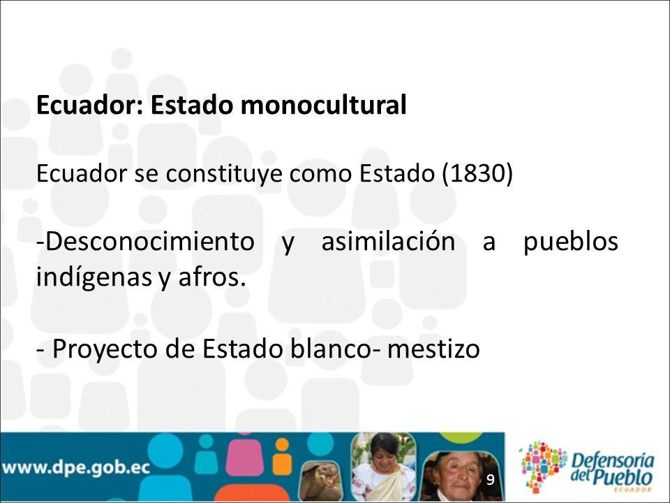 Ecuador: Estado monocultural