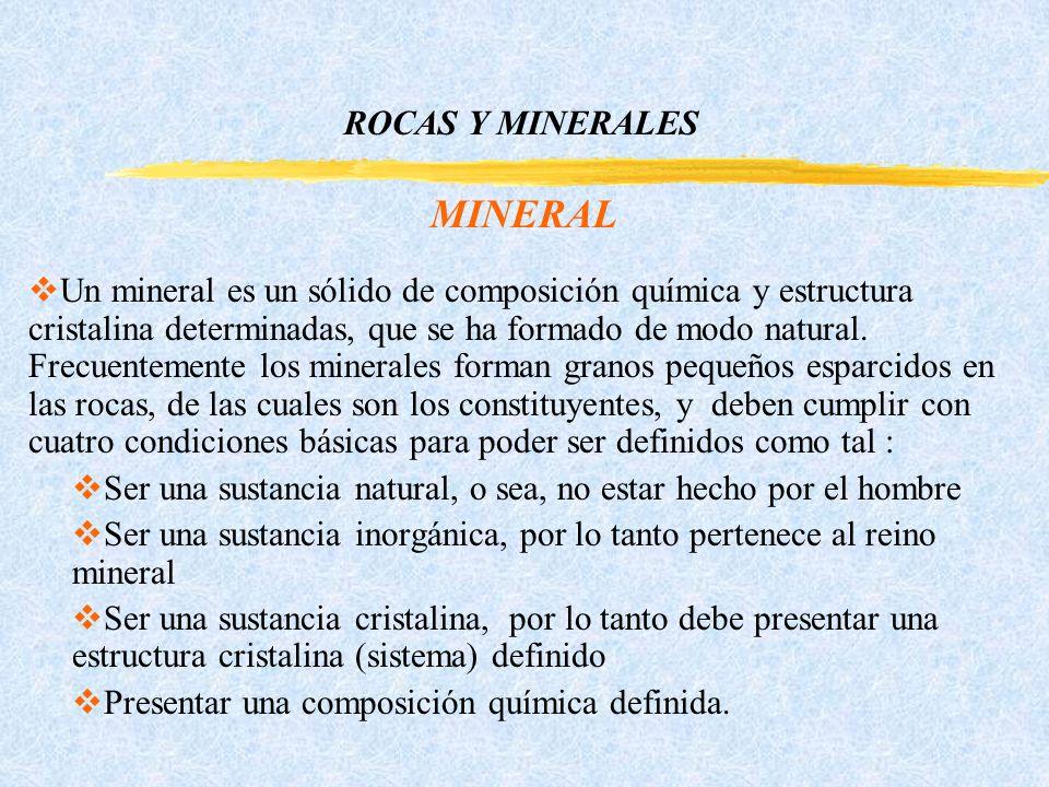 MINERAL ROCAS Y MINERALES