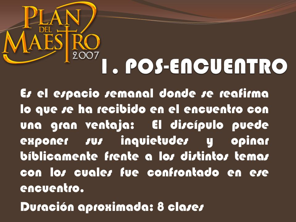 1. POS-ENCUENTRO