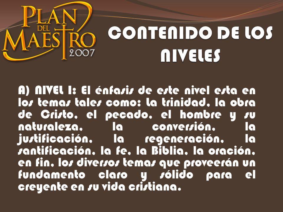 CONTENIDO DE LOS NIVELES