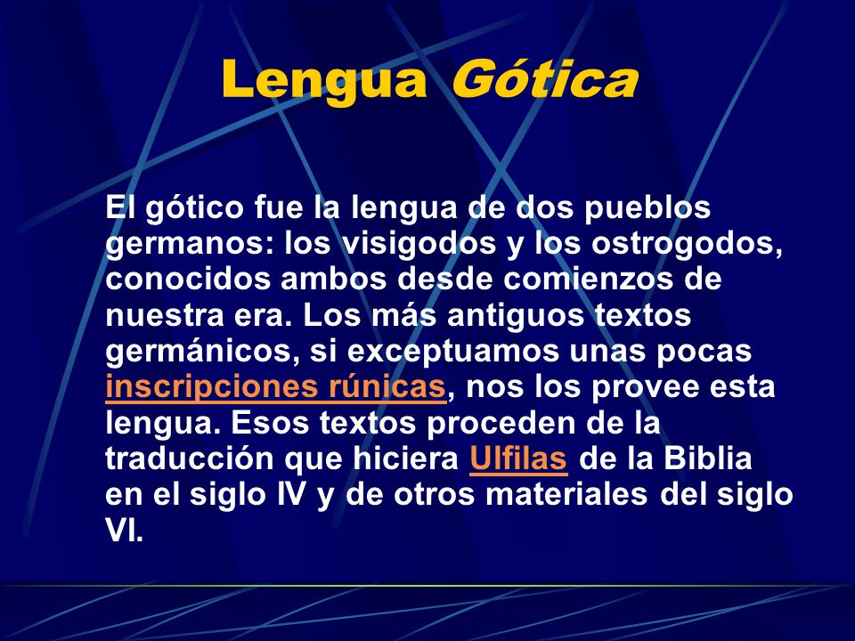 Lengua Gótica