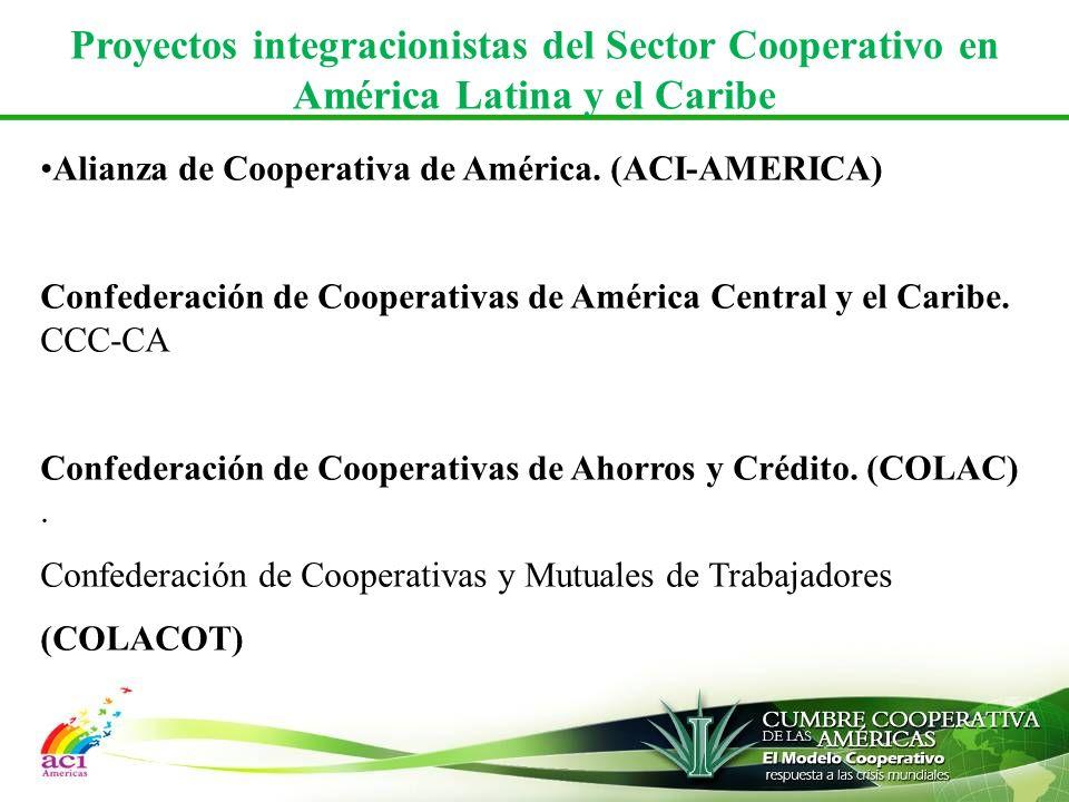 Proyectos integracionistas del Sector Cooperativo en América Latina y el Caribe