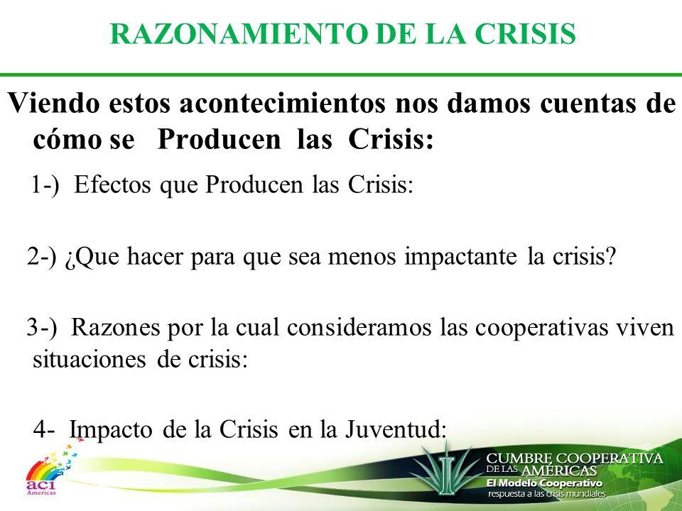 RAZONAMIENTO DE LA CRISIS