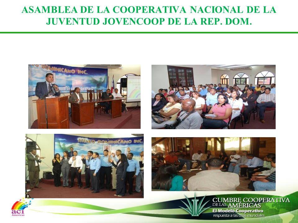 ASAMBLEA DE LA COOPERATIVA NACIONAL DE LA JUVENTUD JOVENCOOP DE LA REP