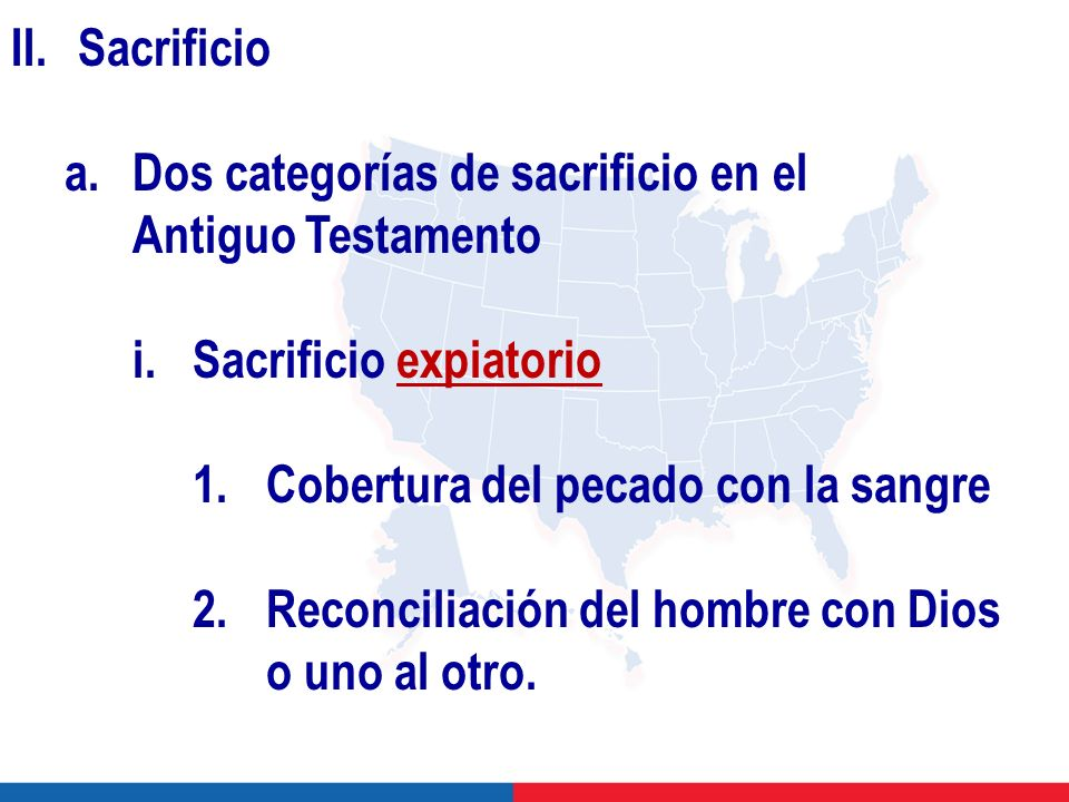a. Dos categorías de sacrificio en el Antiguo Testamento