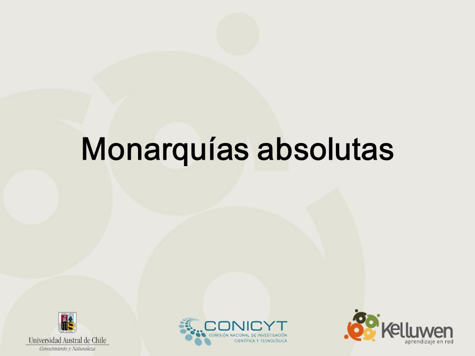 Monarquías absolutas