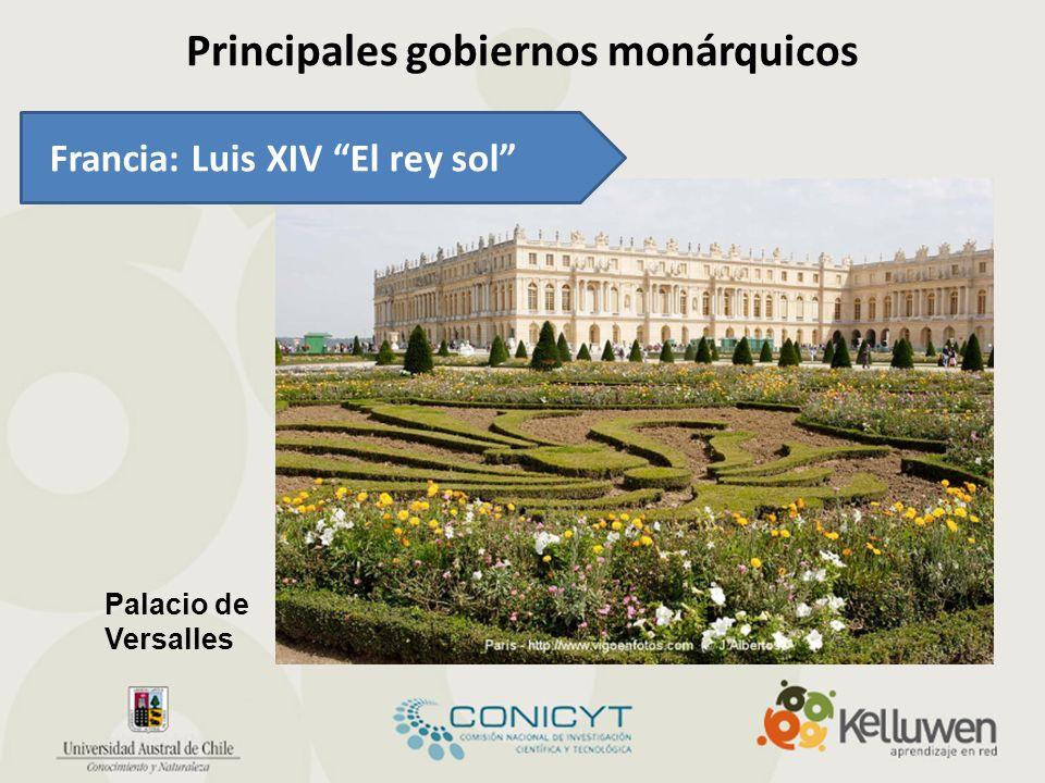 Principales gobiernos monárquicos