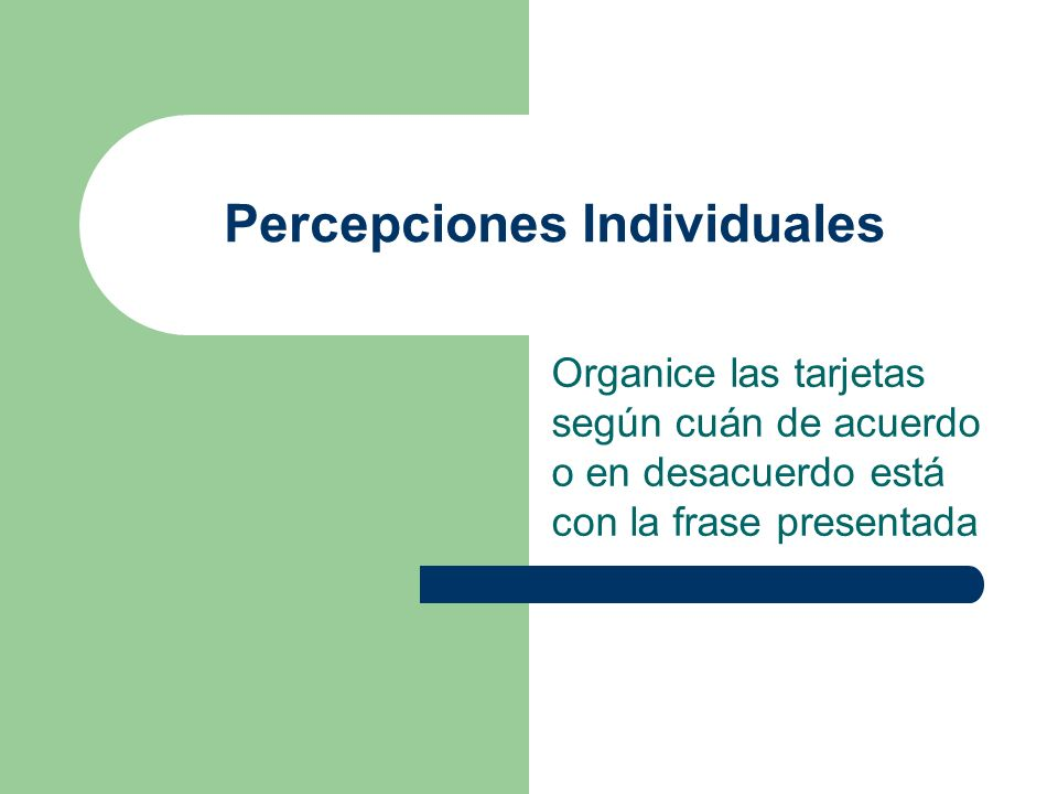 Percepciones Individuales