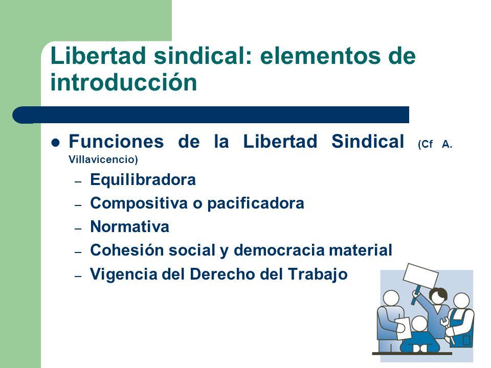 Libertad sindical: elementos de introducción