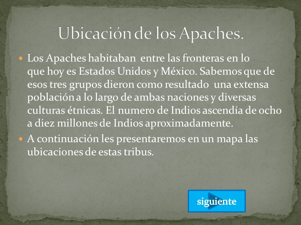 Ubicación de los Apaches.