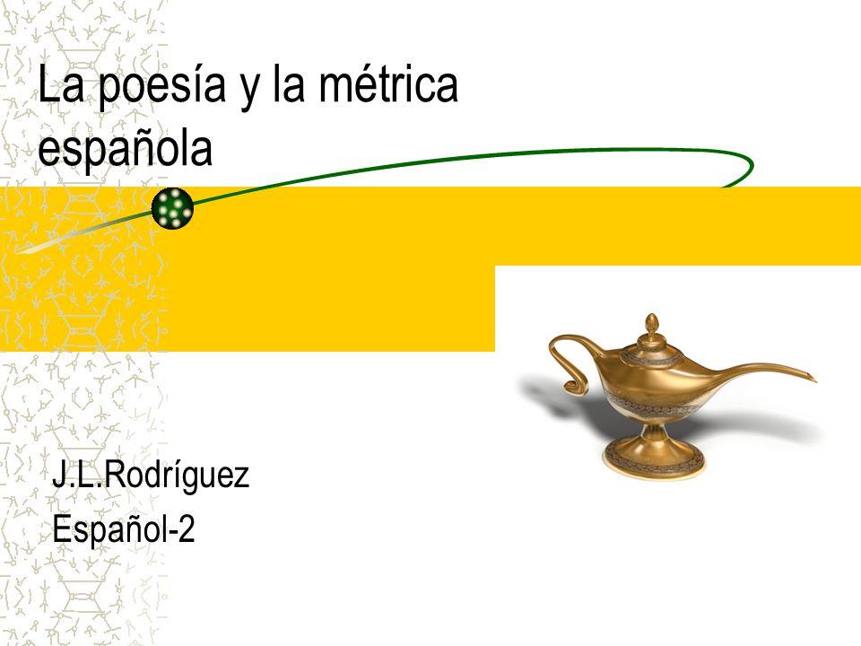 La poesía y la métrica española
