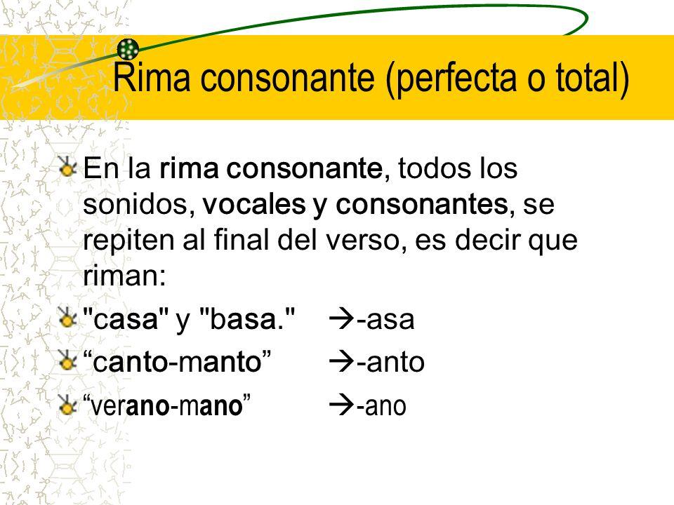 Rima consonante (perfecta o total)