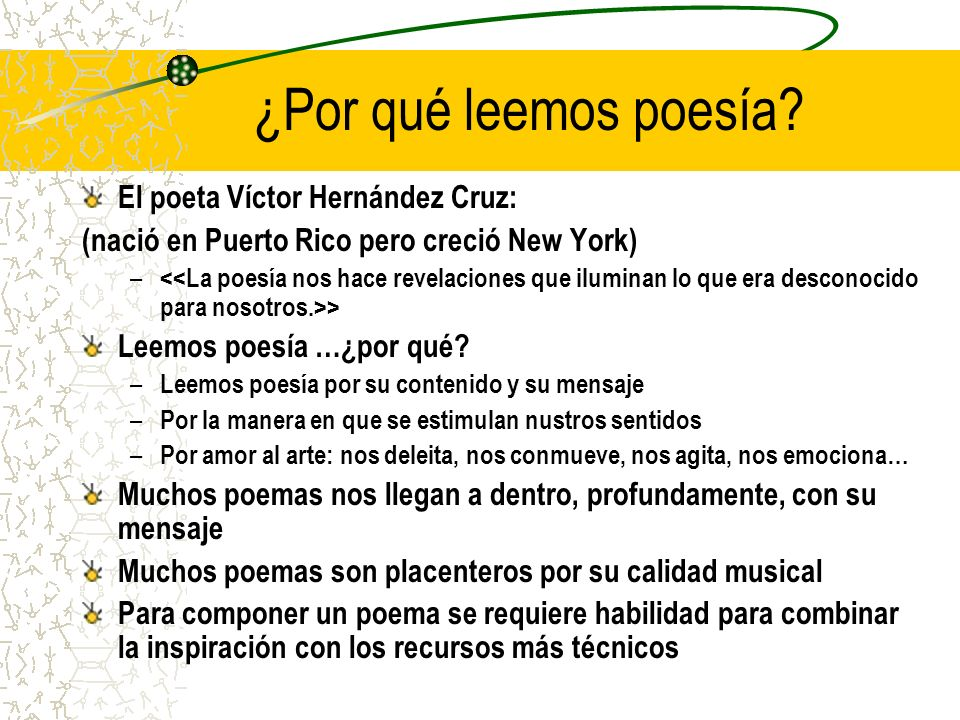 ¿Por qué leemos poesía El poeta Víctor Hernández Cruz: