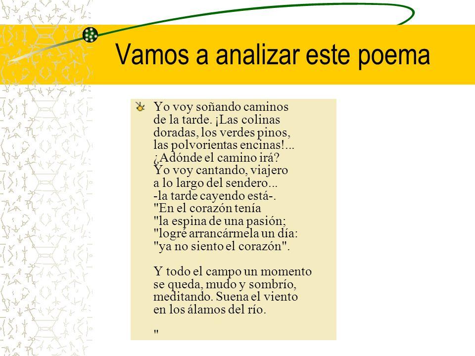 Vamos a analizar este poema