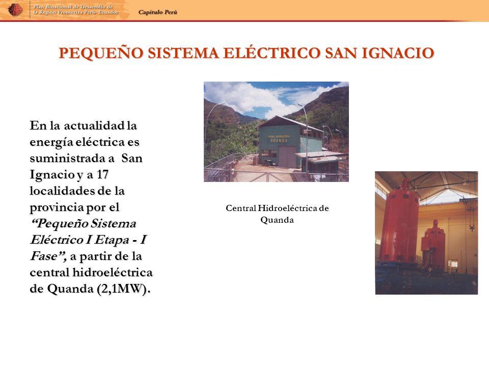 PEQUEÑO SISTEMA ELÉCTRICO SAN IGNACIO Central Hidroeléctrica de Quanda