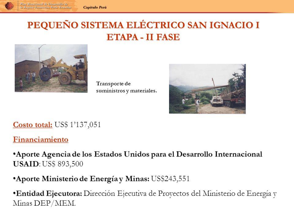 PEQUEÑO SISTEMA ELÉCTRICO SAN IGNACIO I ETAPA - II FASE