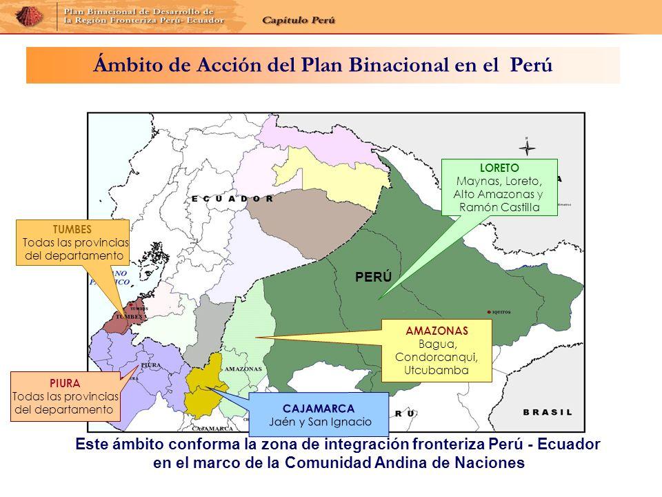 Ámbito de Acción del Plan Binacional en el Perú