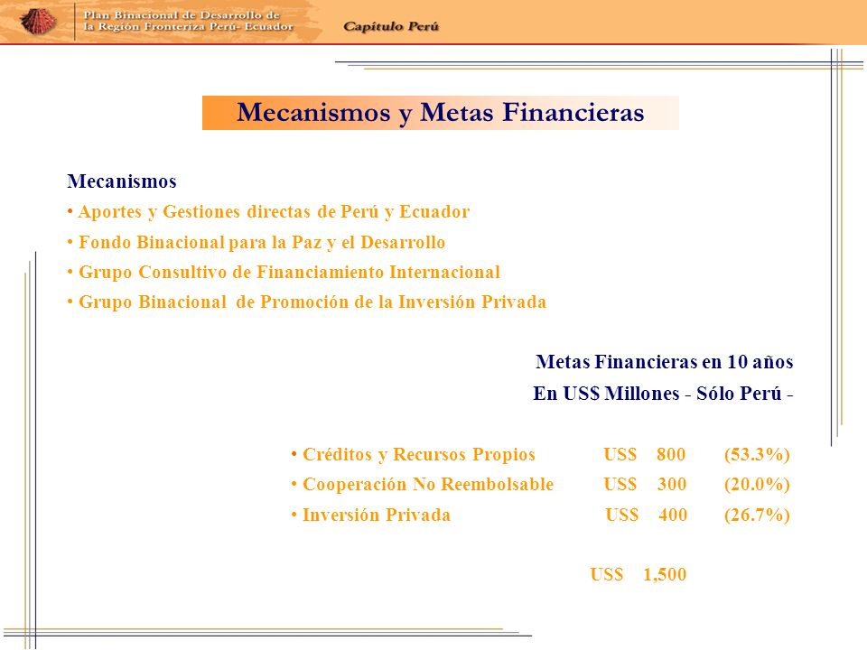 Mecanismos y Metas Financieras