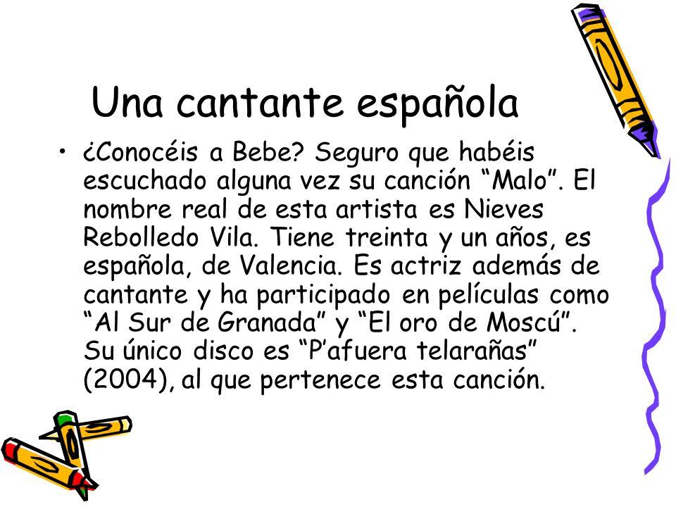 Una cantante española